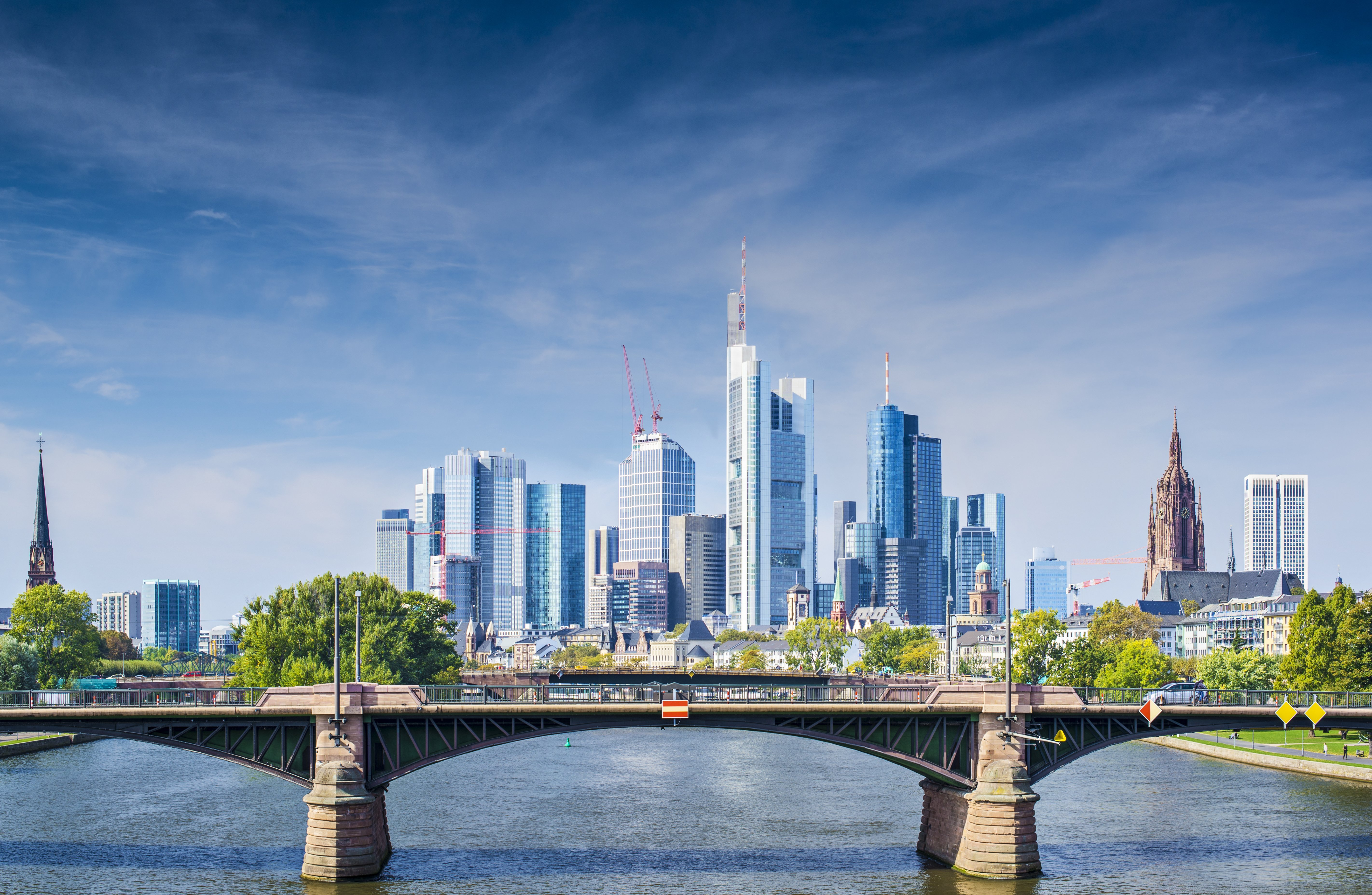 Skyline of Frankfurt, Germany, the financial center of the country-1